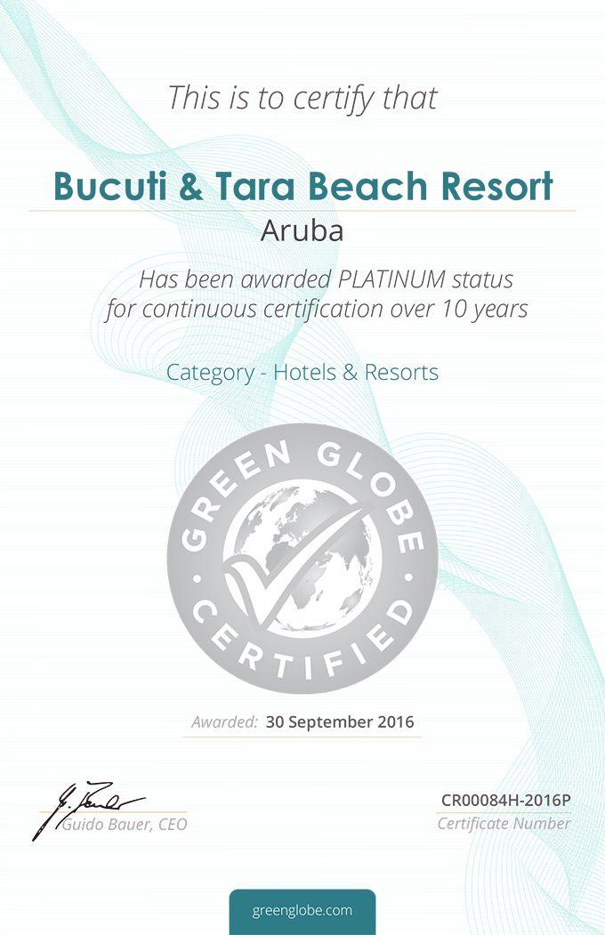 Aruba News by VisitAruba - Bucuti & Tara Beach Resort Awarded Green ...